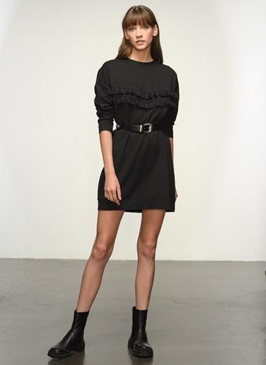 NGSTYLE NGKAW21EL0024 Püsküllü Sweat Elbise Siyah